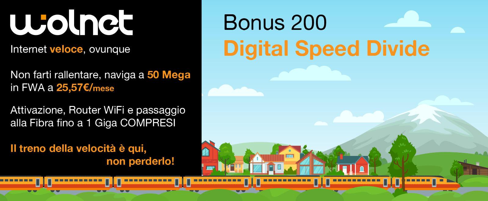 Bonus 200 Digital Speed Divide